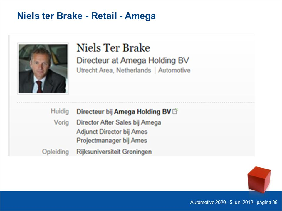 Niels ter Brake - Retail - Amega Automotive 2020 - 5 juni 2012 - pagina 38