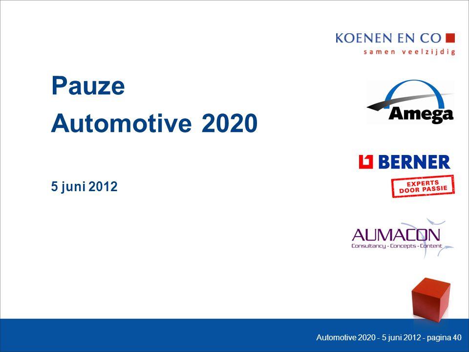 Pauze Automotive 2020 5 juni 2012 Automotive 2020 - 5 juni 2012 - pagina 40