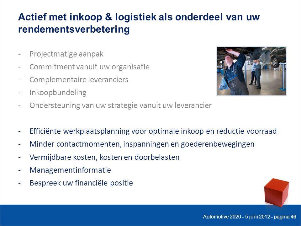 -Projectmatige aanpak -Commitment vanuit uw organisatie -Complementaire leveranciers -Inkoopbundeling -Ondersteuning van uw strategie vanuit uw levera
