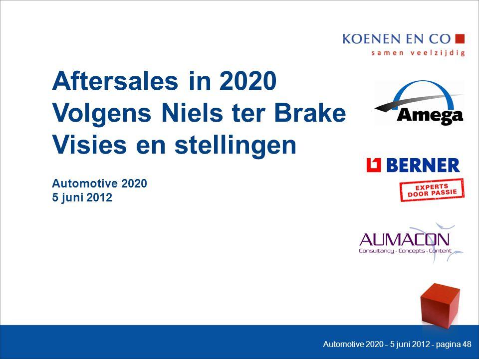 Aftersales in 2020 Volgens Niels ter Brake Visies en stellingen Automotive 2020 5 juni 2012 Automotive 2020 - 5 juni 2012 - pagina 48