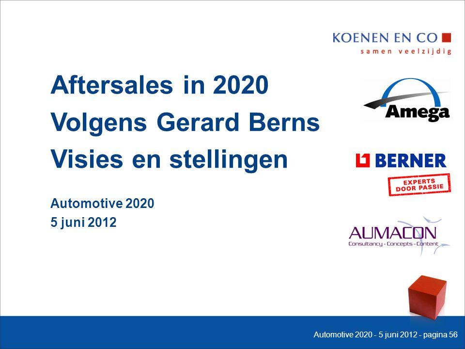 Aftersales in 2020 Volgens Gerard Berns Visies en stellingen Automotive 2020 5 juni 2012 Automotive 2020 - 5 juni 2012 - pagina 56