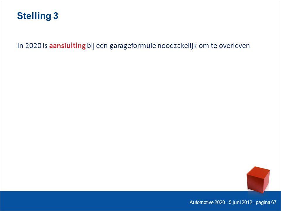 Stelling 3 In 2020 is aansluiting bij een garageformule noodzakelijk om te overleven Automotive 2020 - 5 juni 2012 - pagina 67