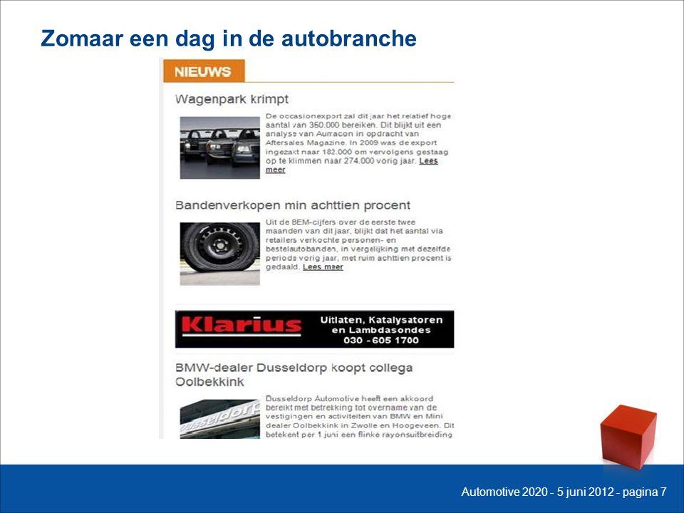 Zomaar een dag in de autobranche Automotive 2020 - 5 juni 2012 - pagina 7