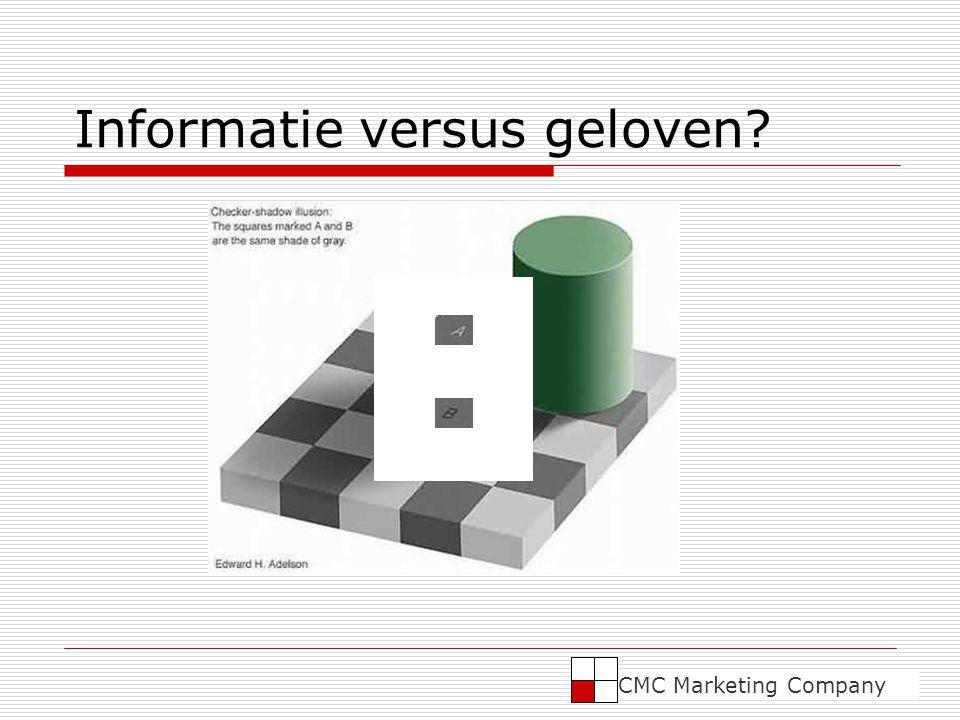 Informatie versus geloven? CMC Marketing Company