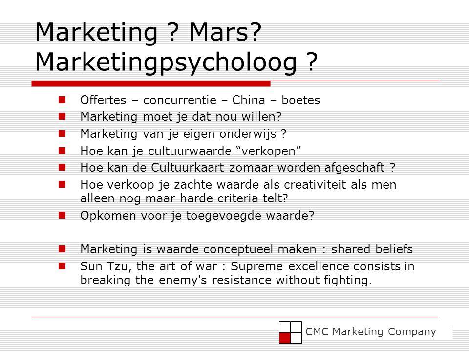 Marketing .Mars. Marketingpsycholoog .