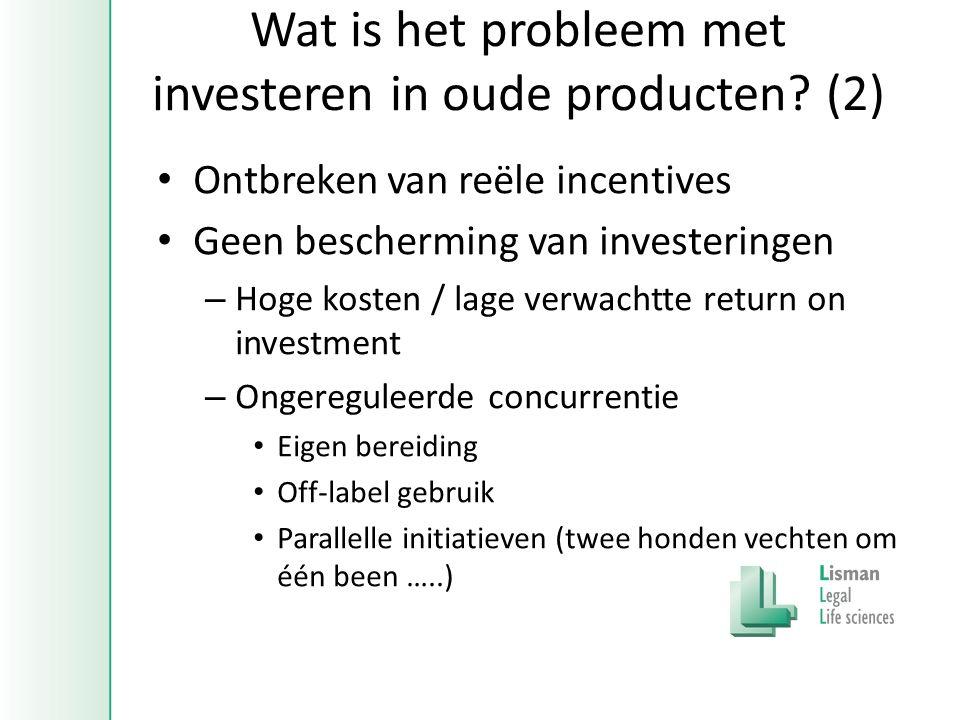 Wat is het probleem met investeren in oude producten.