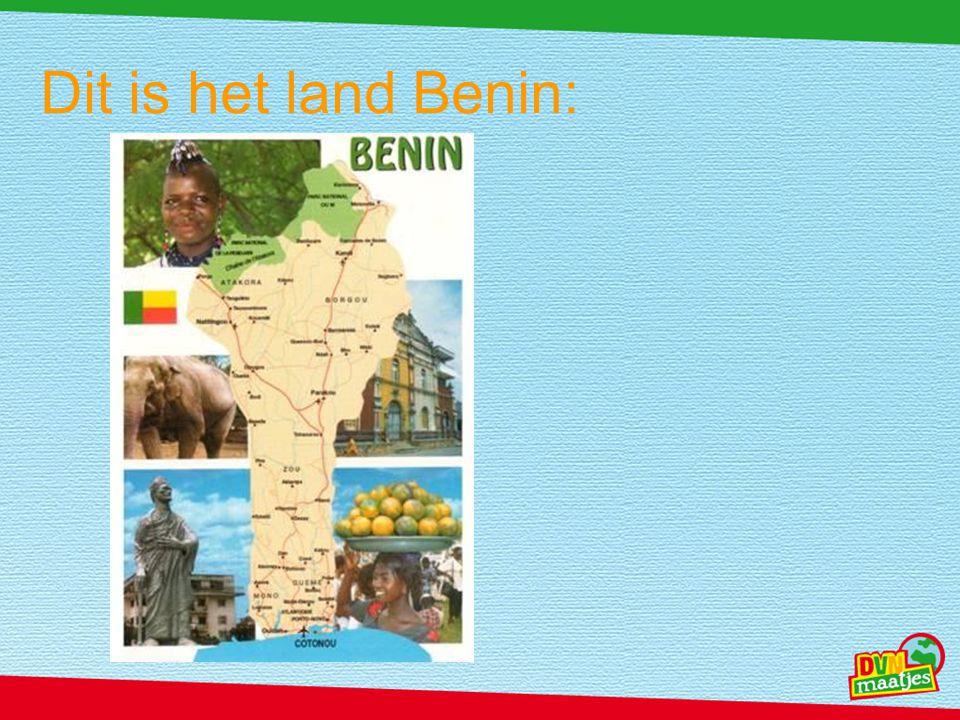 Dit is het land Benin: