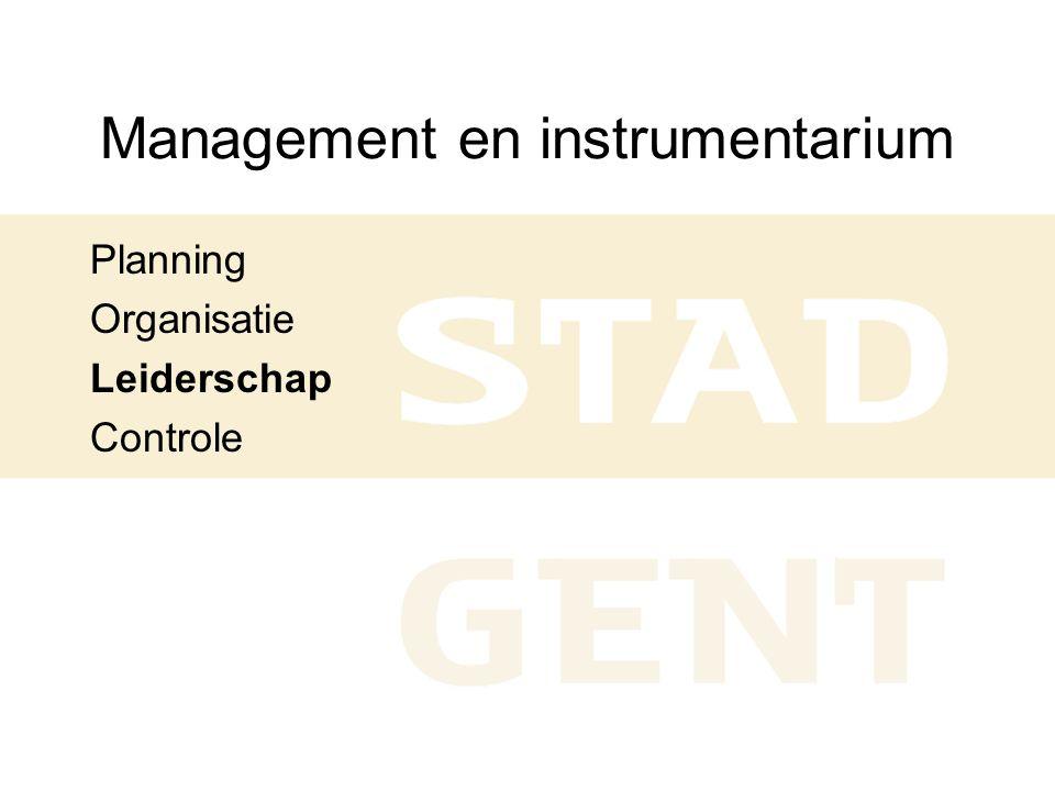 Management en instrumentarium Planning Organisatie Leiderschap Controle