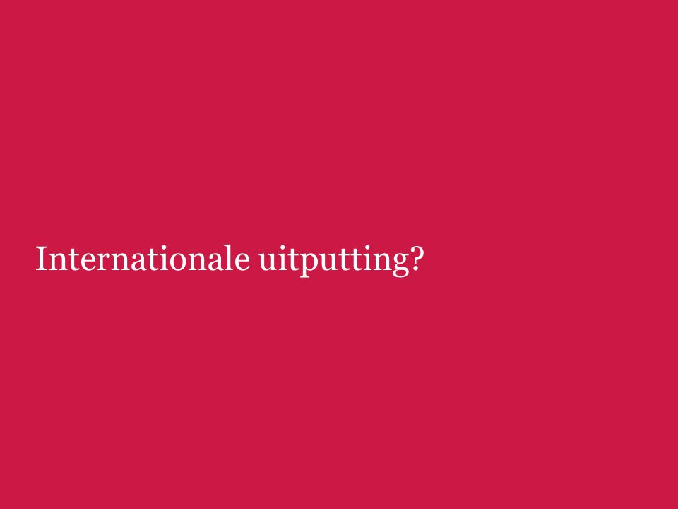 Internationale uitputting?