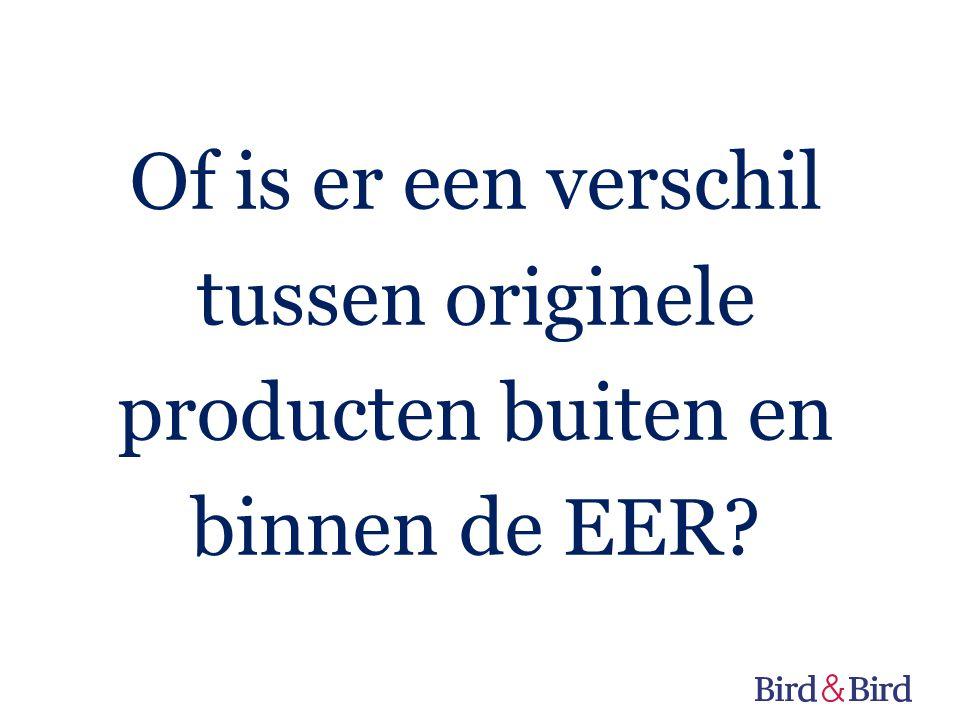 Of is er een verschil tussen originele producten buiten en binnen de EER?