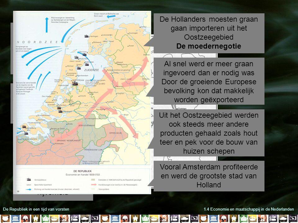De Republiek in een tijd van vorsten1.4 Economie en maatschappij in de Nederlanden In de 14 de en 15 de eeuw waren de Hollanders massaal weggetrokken