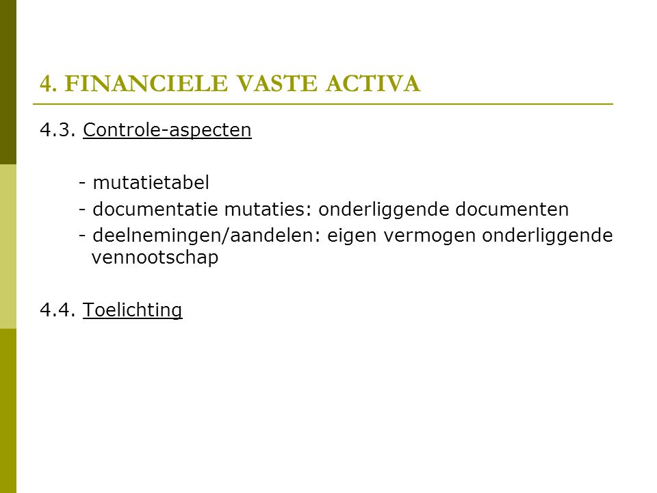 4.FINANCIELE VASTE ACTIVA 4.3.
