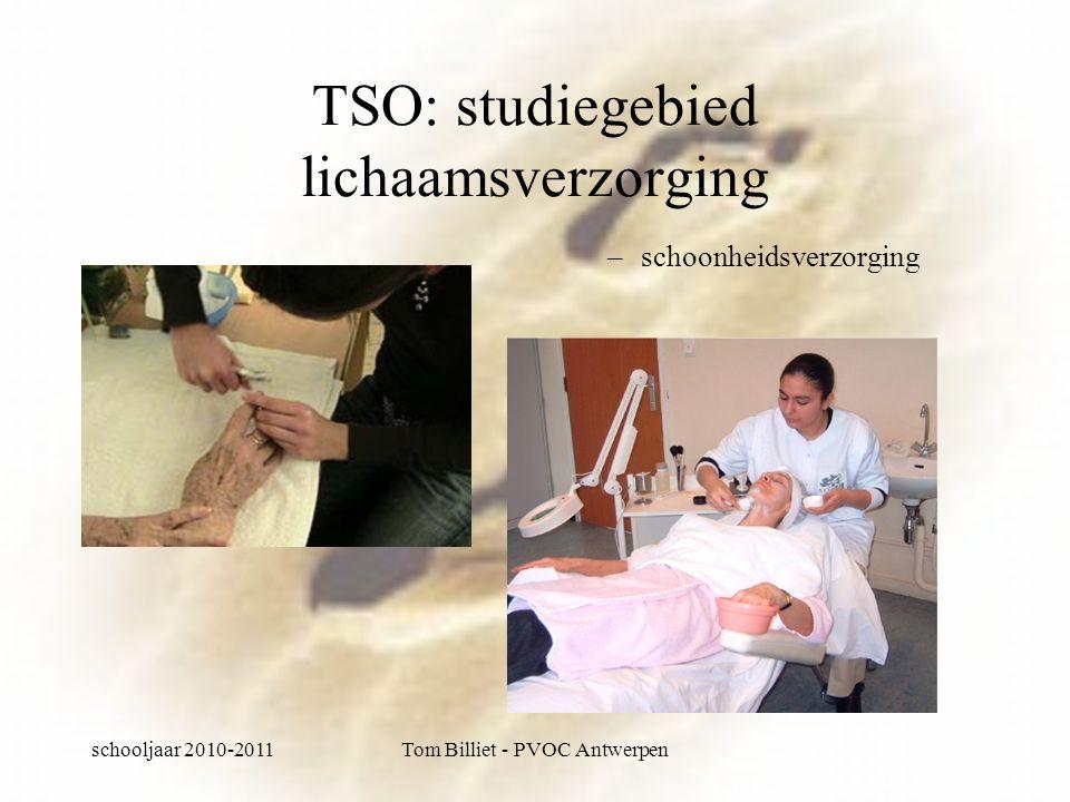 schooljaar 2010-2011Tom Billiet - PVOC Antwerpen TSO: studiegebied lichaamsverzorging –schoonheidsverzorging