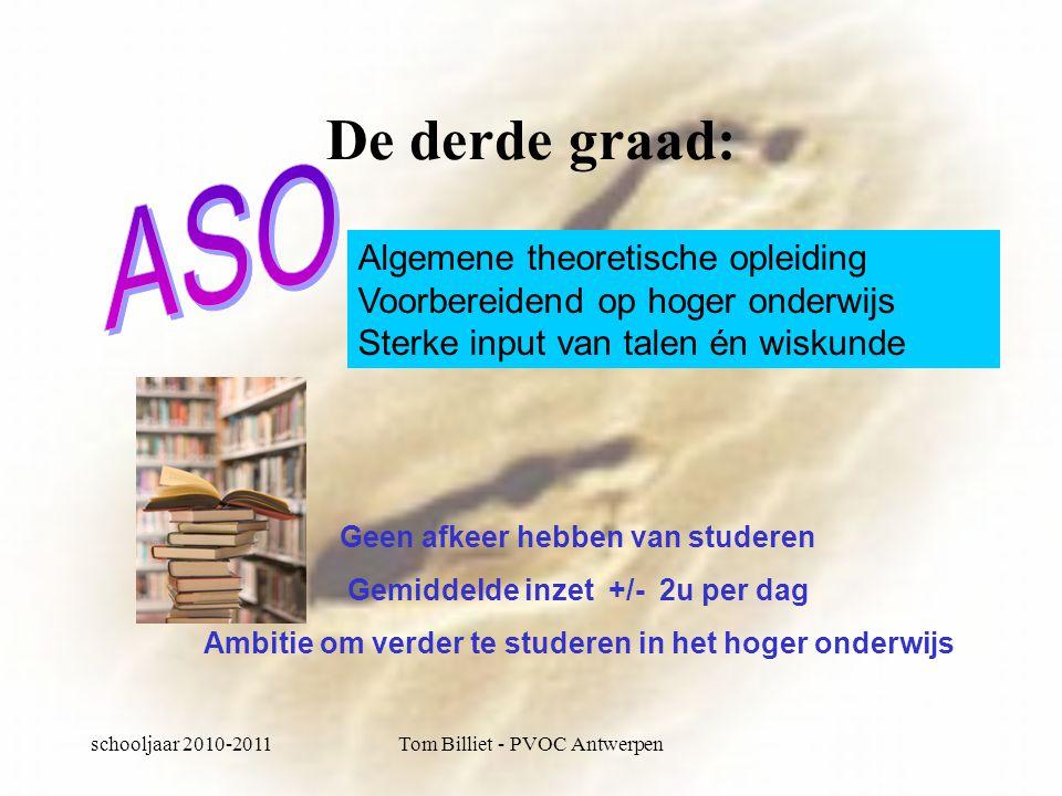 schooljaar 2010-2011Tom Billiet - PVOC Antwerpen TSO: studiegebied tandtechnieken Tandtechnieken