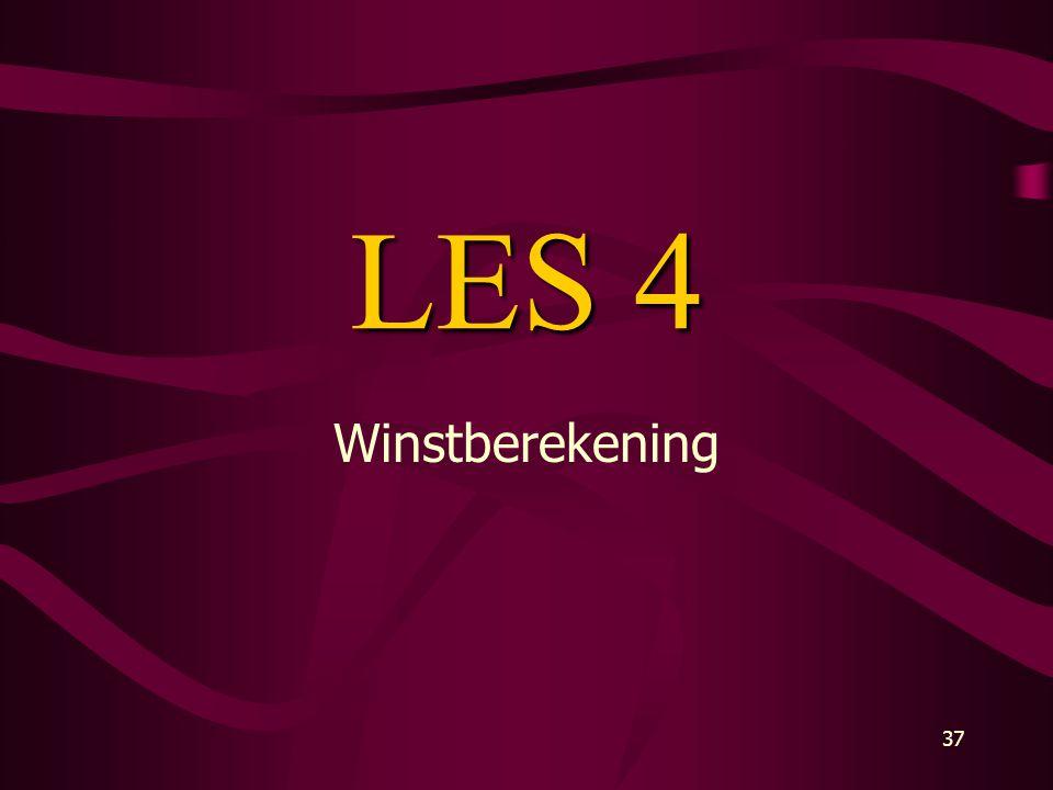 37 LES 4 Winstberekening