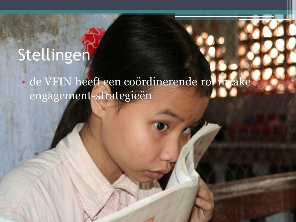 Stellingen •de VFIN heeft een coördinerende rol inzake engagement-strategieën