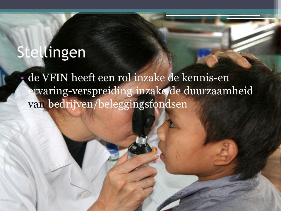 Stellingen •de VFIN heeft een rol inzake de kennis-en ervaring-verspreiding inzake de duurzaamheid van bedrijven/beleggingsfondsen