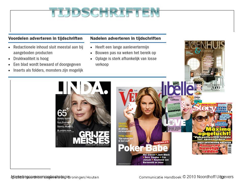 © 2010 Noordhoff UitgeversMarketingcommunicatiestrategie © 2010 Noordhoff Uitgevers bv, Groningen/Houten Communicatie Handboek 32