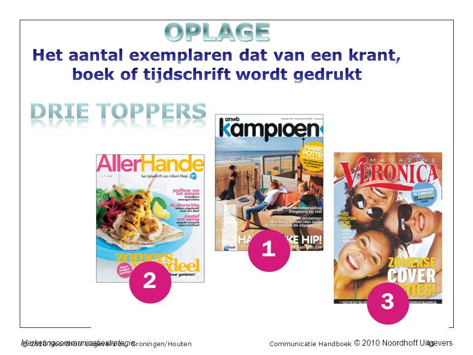 © 2010 Noordhoff UitgeversMarketingcommunicatiestrategie © 2010 Noordhoff Uitgevers bv, Groningen/Houten Communicatie Handboek 45