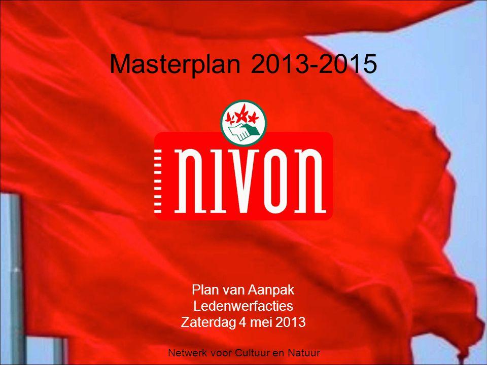 Netwerk voor Cultuur en Natuur Masterplan 2013-2015 Plan van Aanpak Ledenwerfacties Zaterdag 4 mei 2013
