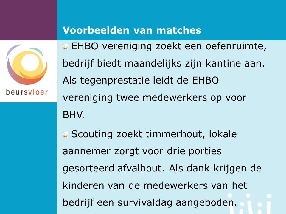 EHBO vereniging zoekt een oefenruimte, bedrijf biedt maandelijks zijn kantine aan.