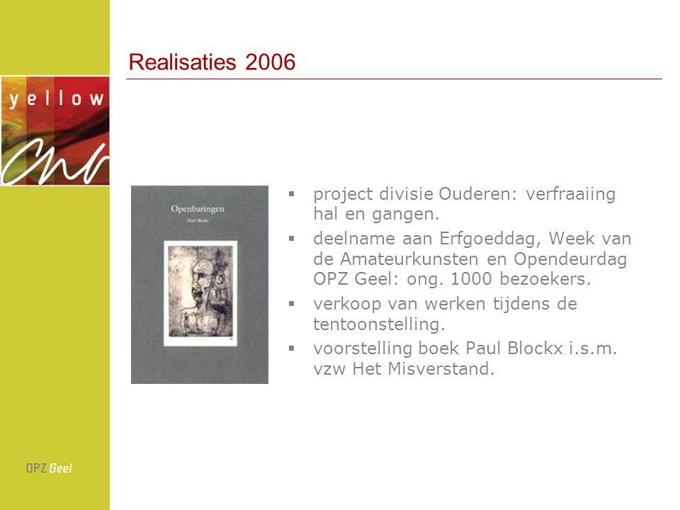 Realisaties 2006  project divisie Ouderen: verfraaiing hal en gangen.