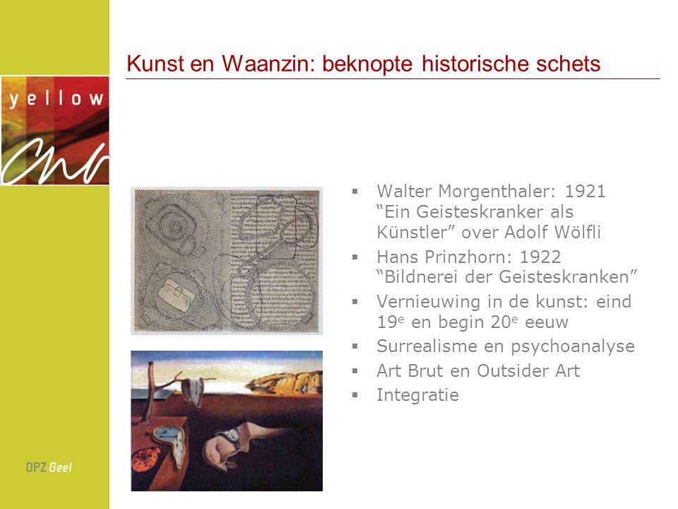 Yellow Art: historiek 200020012003200420052006 Eeuwfeesten: internationaal congres over gezinsverpleging, kunstproject in samenwerking met het OPZ Ongewoongewoon