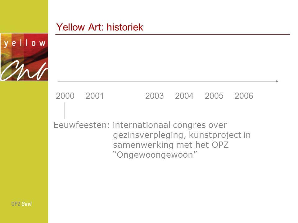 Yellow Art: historiek 200020012003200420052006 Y.E.L.L.O.W: in ouderlijk huis Jan Hoet, ontstaan van Yellow Art