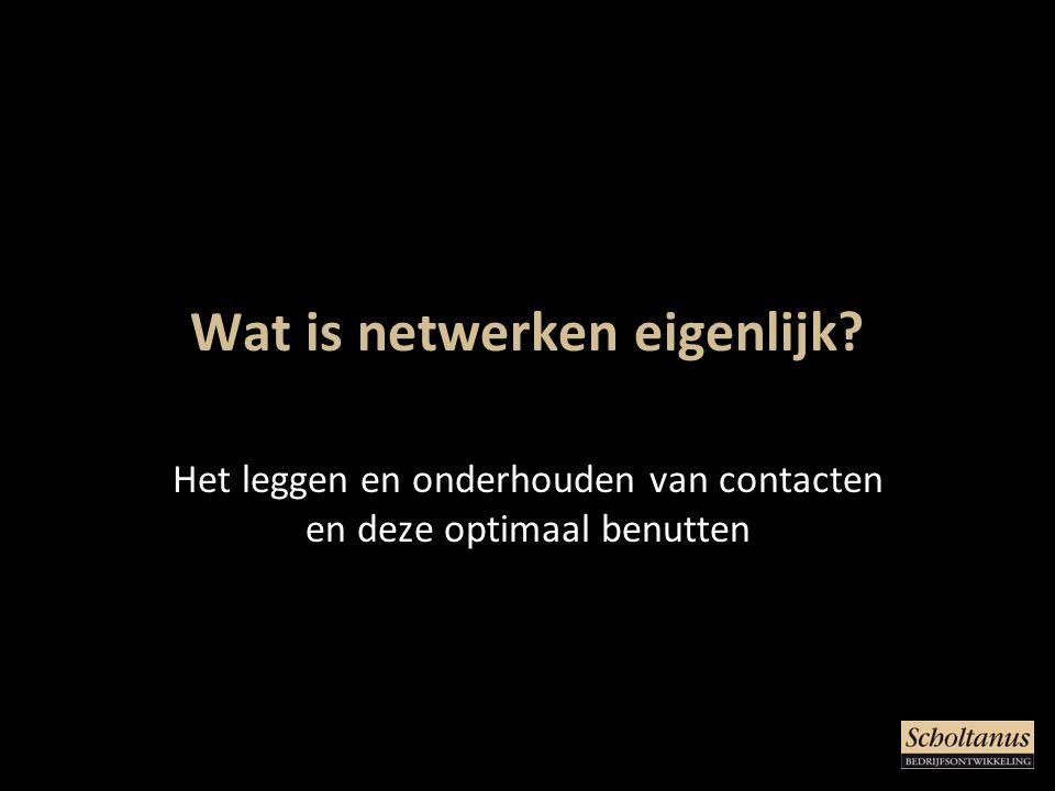 Wat is netwerken eigenlijk? Het leggen en onderhouden van contacten en deze optimaal benutten