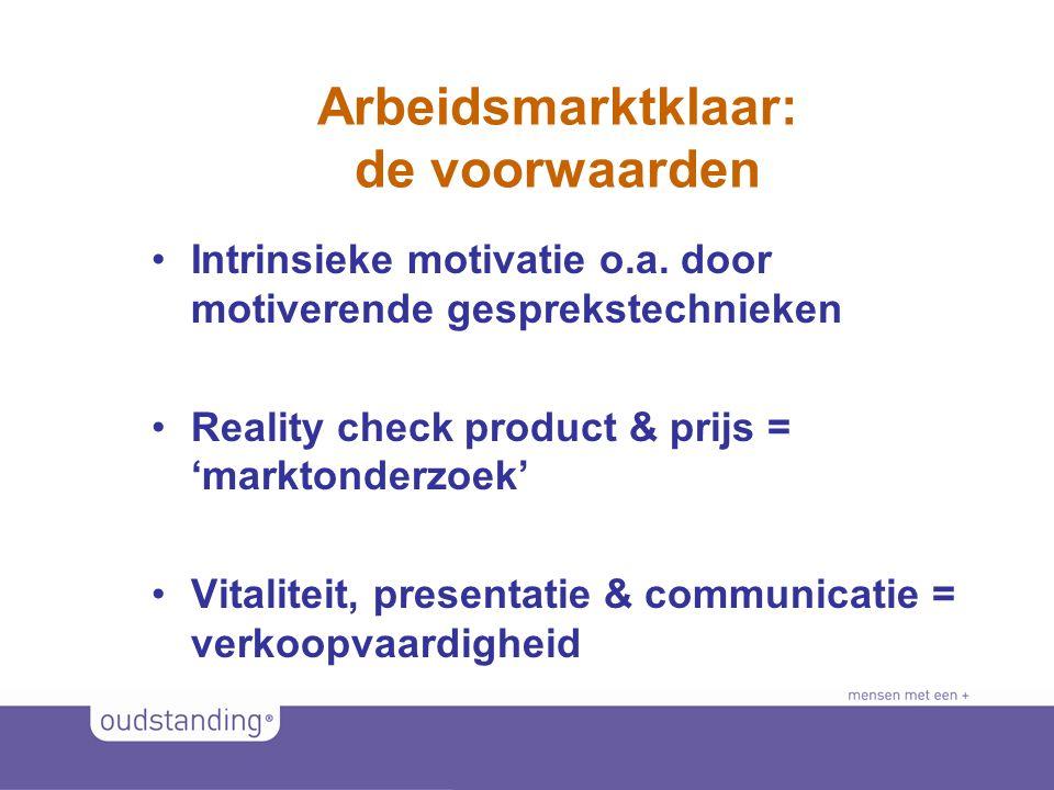 © 2011 SINKSENS|XCHANGE Arbeidsmarktklaar: de voorwaarden •Intrinsieke motivatie o.a.