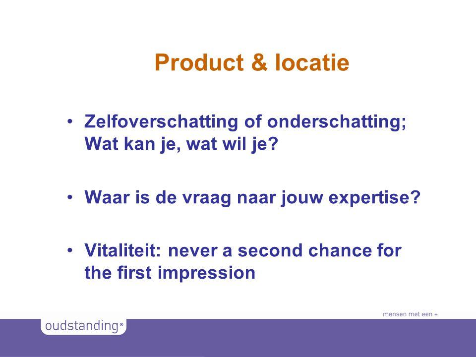 © 2011 SINKSENS|XCHANGE Product & locatie •Zelfoverschatting of onderschatting; Wat kan je, wat wil je.