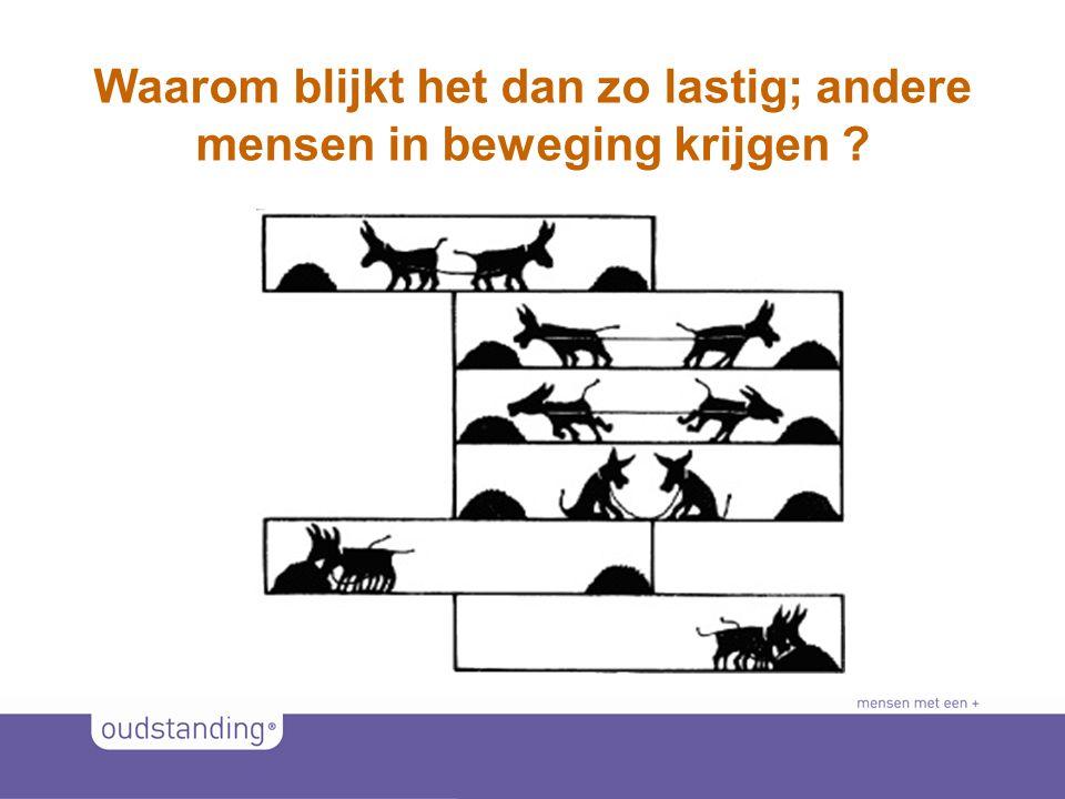 © 2011 SINKSENS|XCHANGE Waarom blijkt het dan zo lastig; andere mensen in beweging krijgen ?