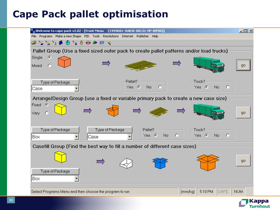30 Cape Pack pallet optimisation
