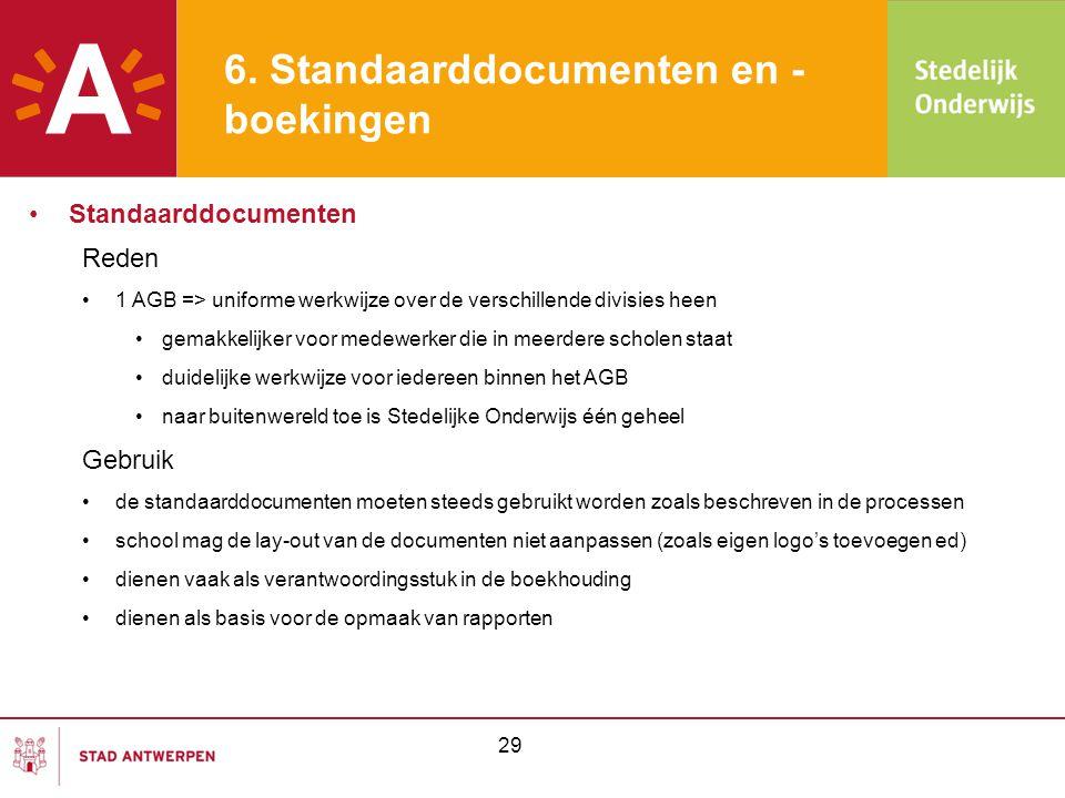 •Standaarddocumenten Reden •1 AGB => uniforme werkwijze over de verschillende divisies heen •gemakkelijker voor medewerker die in meerdere scholen sta