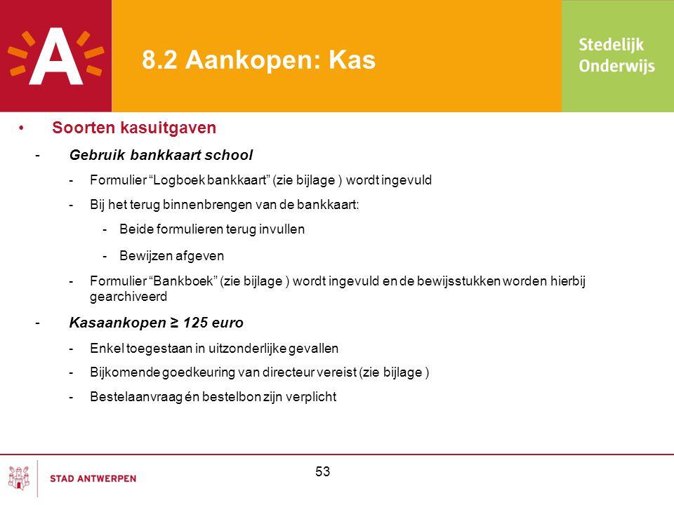"""-Gebruik bankkaart school -Formulier """"Logboek bankkaart"""" (zie bijlage ) wordt ingevuld -Bij het terug binnenbrengen van de bankkaart: -Beide formulier"""