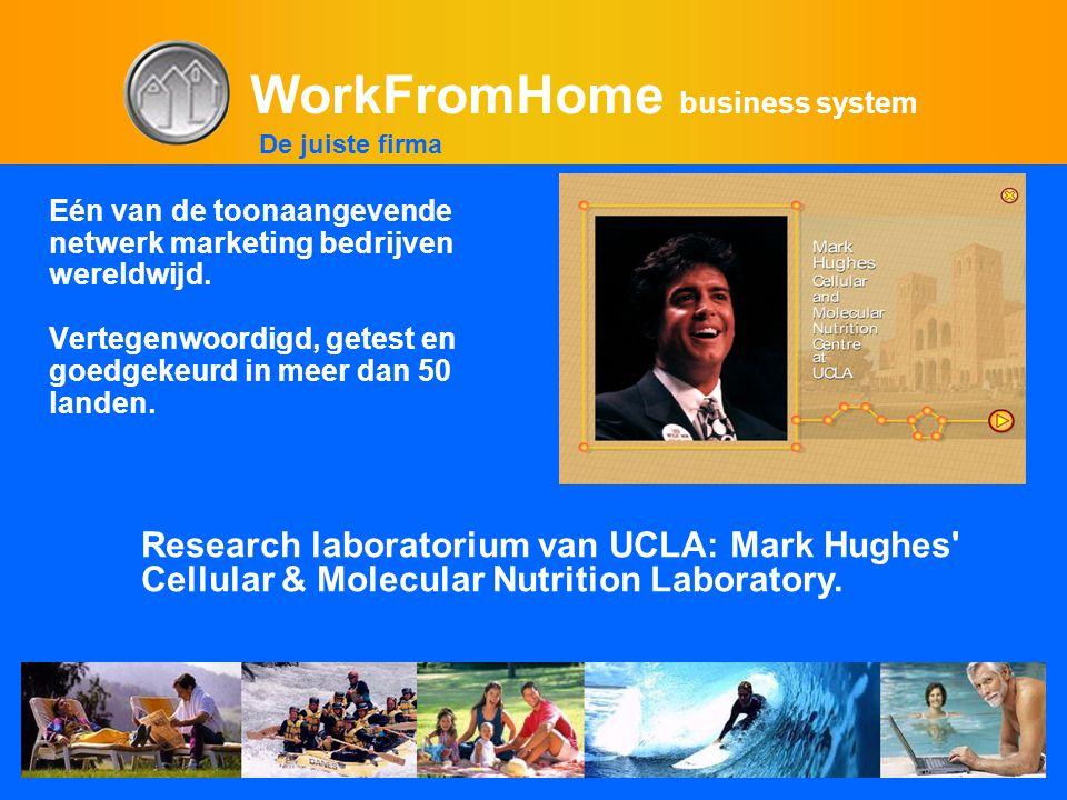 WorkFromHome business system Eén van de toonaangevende netwerk marketing bedrijven wereldwijd. Vertegenwoordigd, getest en goedgekeurd in meer dan 50