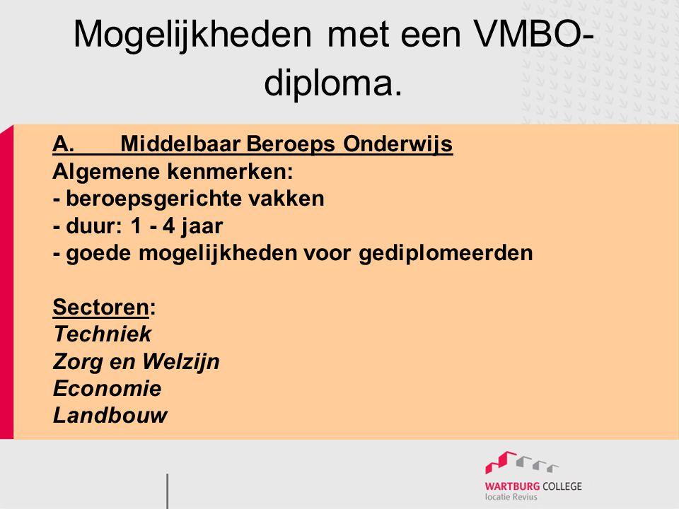 Vier niveaus (moeilijkheidsgraad) : niveau 1 niveau 2(B) niveau 3(KGT) niveau 4 (KGT)  doorstromen naar hbo Leerweg BOL school en stage BBL school en werken