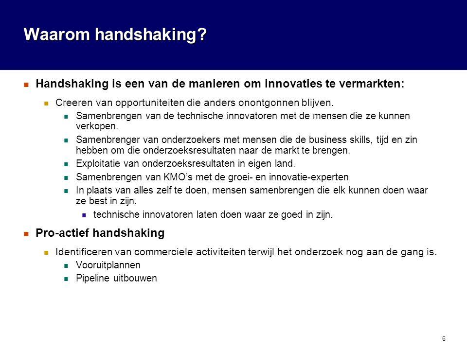6 Waarom handshaking.