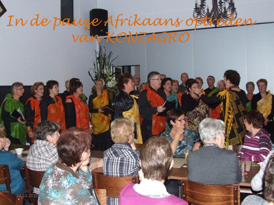 23-11-201022ZijActief Koningslust Kienen voor Turiani In de pauze Afrikaans optreden van KONZAGRO