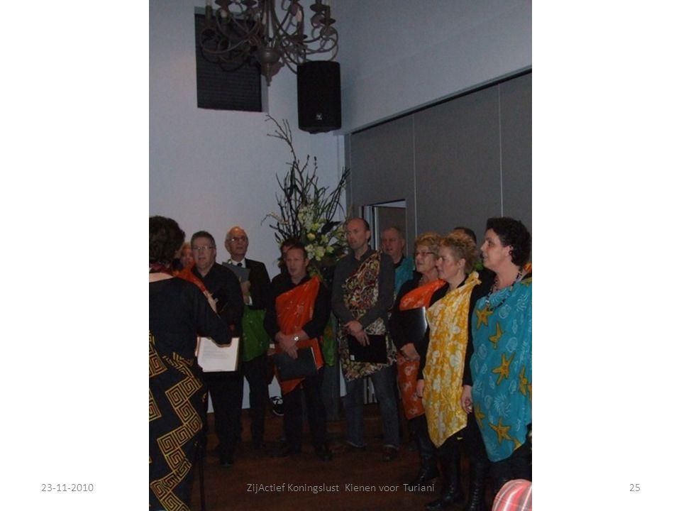 23-11-201025ZijActief Koningslust Kienen voor Turiani
