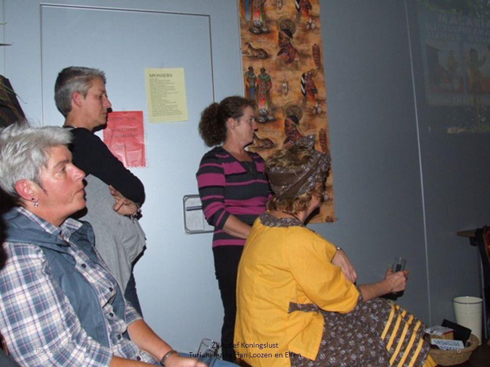 2 nov 20106 ZijActief Koningslust Turiani lezing Han Loozen en Ellen