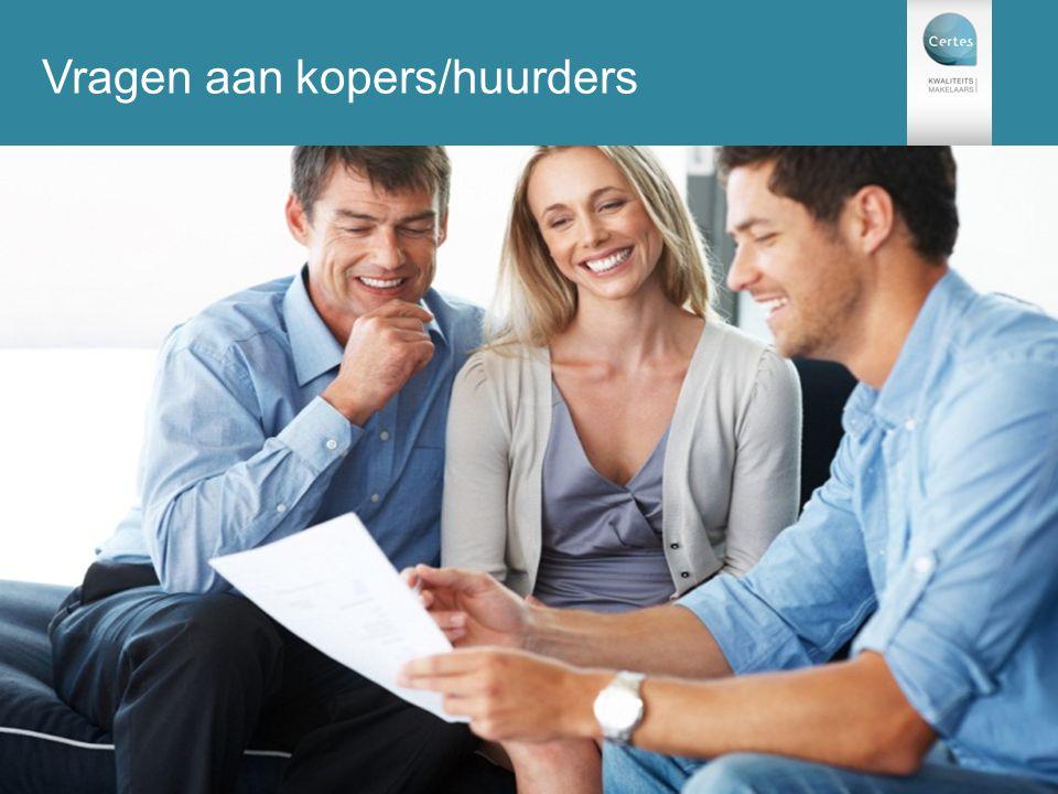 Vragen aan kopers/huurders