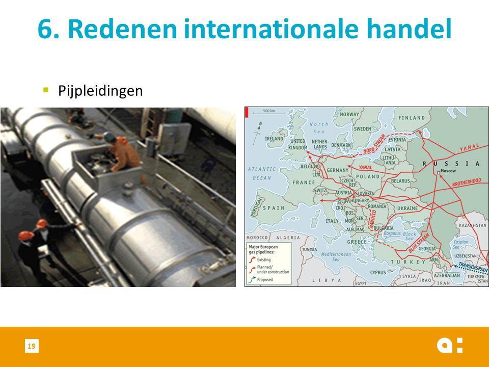  Pijpleidingen 6. Redenen internationale handel 19