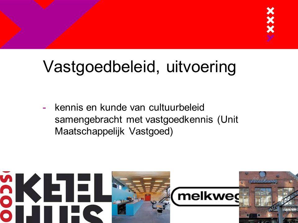 Vastgoedbeleid, uitvoering -kennis en kunde van cultuurbeleid samengebracht met vastgoedkennis (Unit Maatschappelijk Vastgoed)