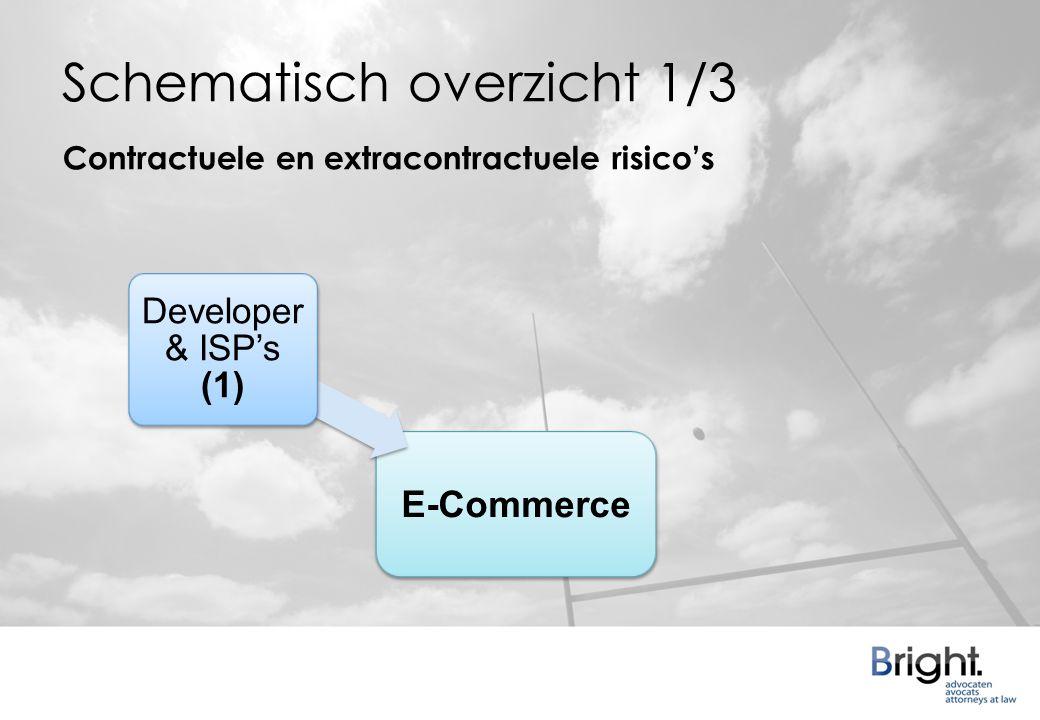Schematisch overzicht 1/3 Developer & ISP's (1) Contractuele en extracontractuele risico's E-Commerce