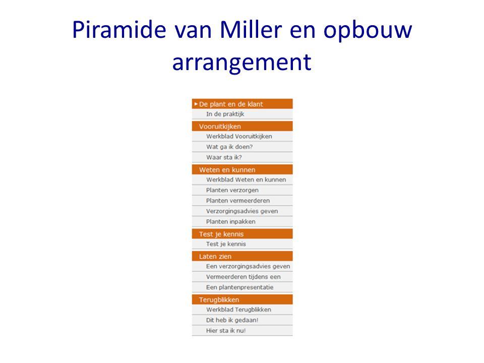 Piramide van Miller en opbouw arrangement