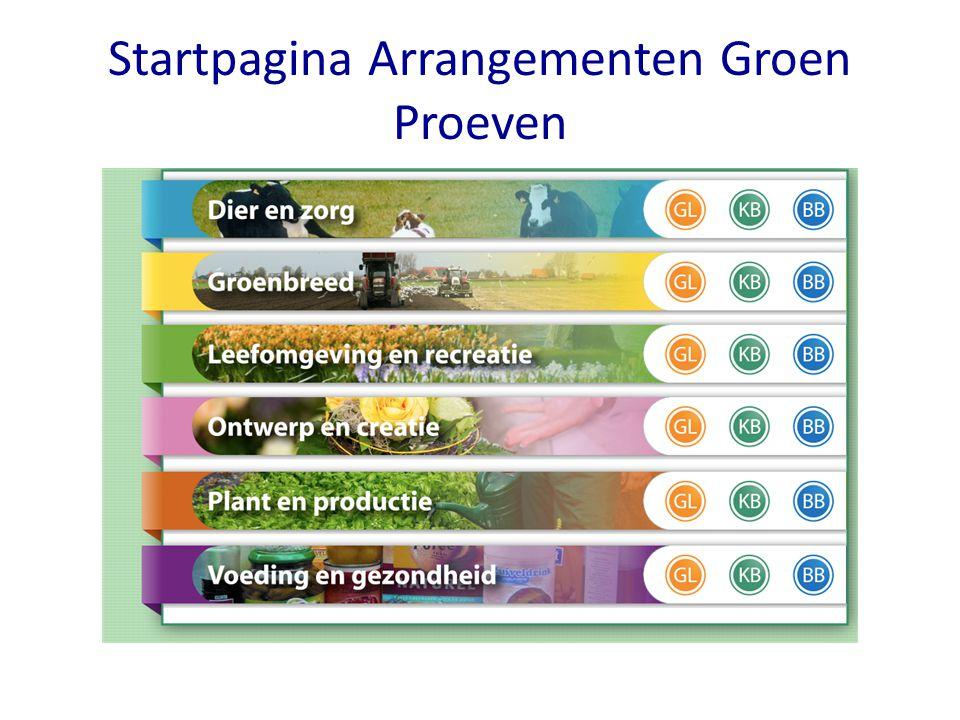 Startpagina Arrangementen Groen Proeven