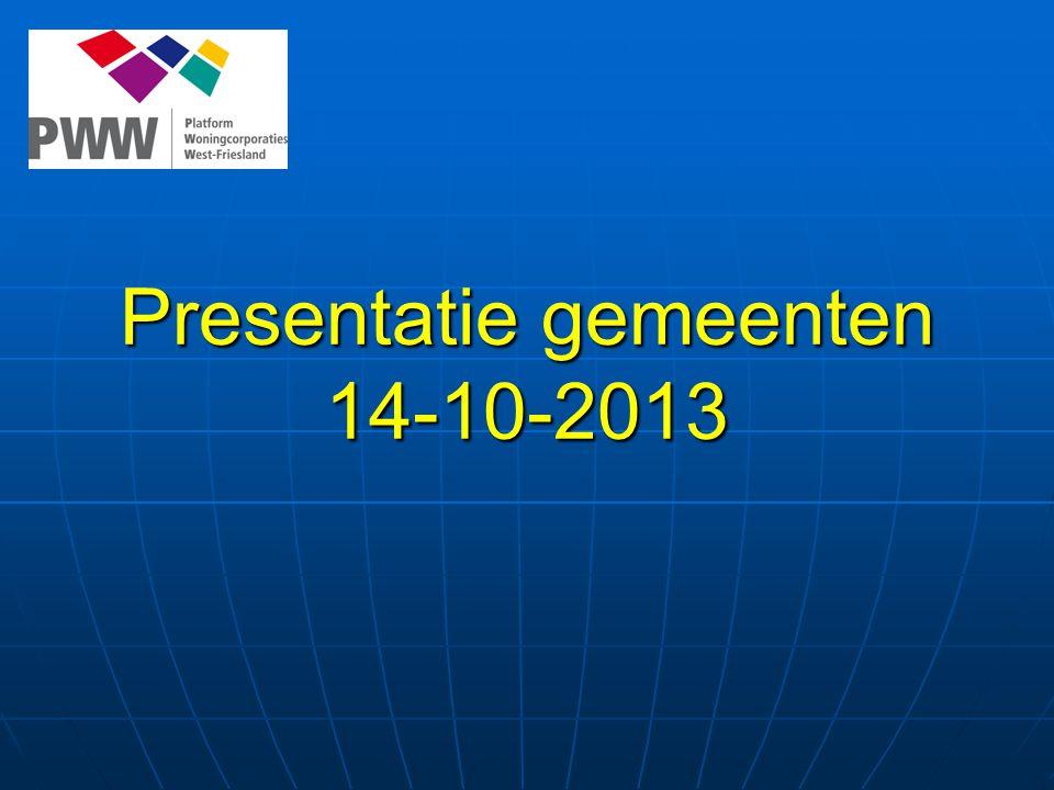Presentatie gemeenten 14-10-2013