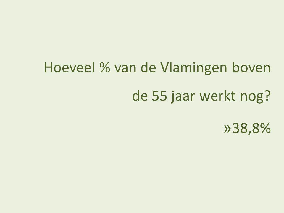 Hoeveel % van de jobs in Vlaanderen zijn gezond?
