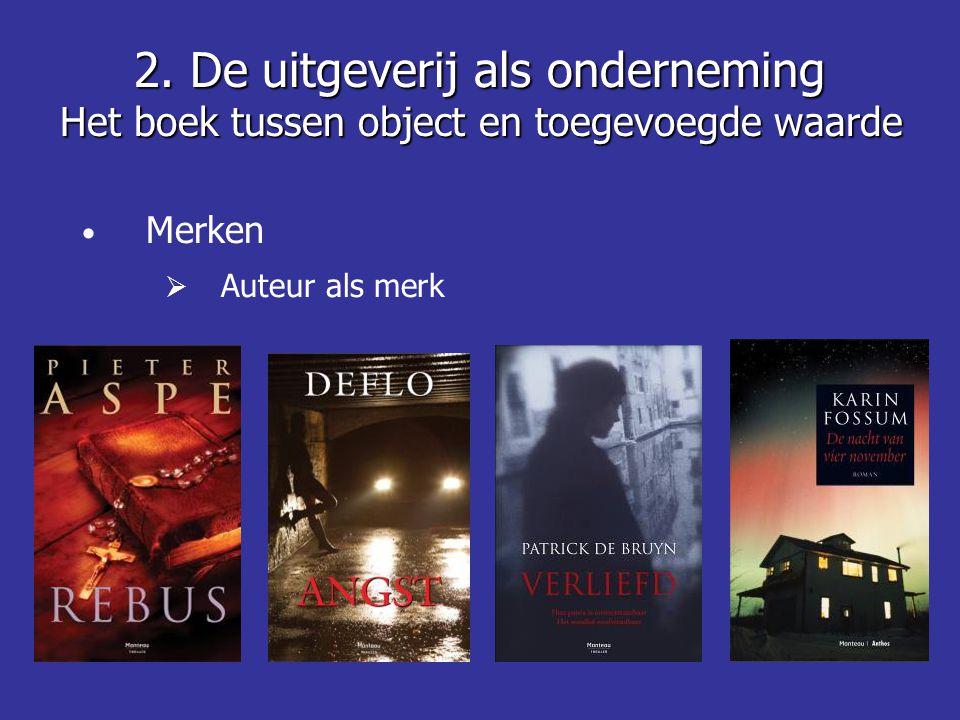 • Merken  Auteur als merk 2.